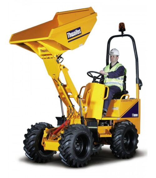 1 tonne four wheel drive skip loader dumper